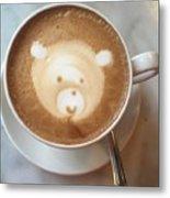 Bear Cup Latte  Metal Print