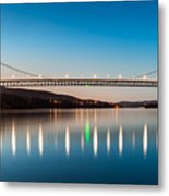Bear Mountain Bridge At Dusk. Metal Print