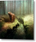Bear Mountain Fantasy Metal Print