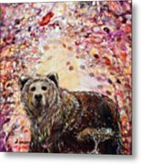 Bear With A Heart Of Gold Metal Print