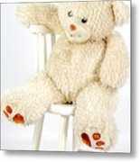 Bear On A Chair Metal Print