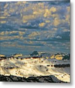 Bear Tooth Mountain Range Metal Print