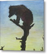 Bear With A View Metal Print