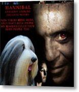 Bearded Collie Art Canvas Print - Hannibal Movie Poster Metal Print