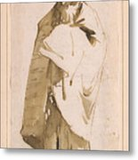 Bearded Oriental In Turban And Cloak Metal Print