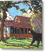 Bears At Barton Cabin Metal Print