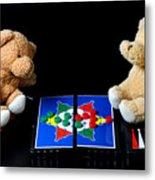 Bears Playing Halma Metal Print