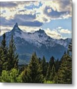 Beartooth Mountains In Spring Metal Print