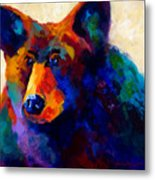 Beary Nice - Black Bear Metal Print