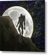 Beast At Full Moon Metal Print