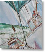 Beating Windward Metal Print