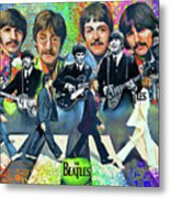 Beatles Fan Art Metal Print