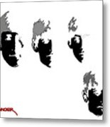 Beatles Meet The Negative Metal Print