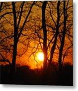 Beauatiful Red Sunset Metal Print