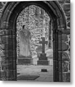 Beauly Priory Arch Metal Print