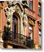 Beautiful Balcony In Austria Metal Print