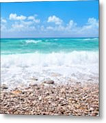 Beautiful Beach Panoramic Landscape Metal Print