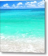 Beautiful Blue Sea Beach Metal Print by Anna Om