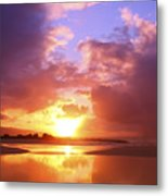 Beautiful Bright Sunset Metal Print