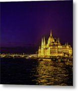 Beautiful Budapest Parliament Metal Print
