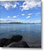 Beautiful Calm Ocean Water's In Casco Bay Maine Metal Print