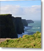 Beautiful Cliff's Of Moher In Liscannor Ireland Metal Print