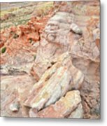 Beautiful Color In Wash 3 Of Valley Of Fire Metal Print