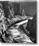 Beautiful Colorado River Page Arizona Blk Wht  Metal Print