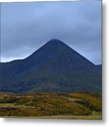 Beautiful Countryside In Cuillen Hills With A Large Mountain  Metal Print
