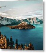 Beautiful Crater Lake Metal Print