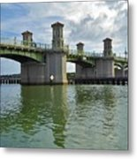 Beautiful Day At The Bridge Of Lions Metal Print