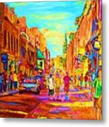 Beautiful Day  In The City Metal Print