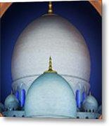 Beautiful Detail At Mosque, Abu Dhabi, United Arab Emirates Metal Print