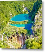 Beautiful Falling Lakes Of Plitvice National Park Metal Print