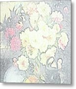 Beautiful Flower Sketch  Metal Print