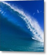 Beautiful Glassy Wave Metal Print