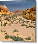 Beautiful Hiking In The Valley Of Fire Metal Print