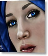 Beautiful In Blue Version 2 Metal Print