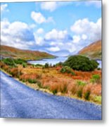 Beautiful Irish Countryside Of County Galway Metal Print by Mark E Tisdale