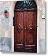 Viaje Beautiful Italian Door Volterre  Metal Print