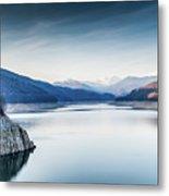 Beautiful Landscape Of The Lake Vidraru Romania Metal Print