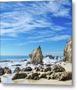 Beautiful Malibu Rocks Metal Print
