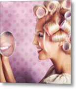 Beautiful Model With Fresh Makeup And Hairstyle Metal Print by Jorgo Photography - Wall Art Gallery