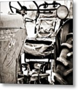 Beautiful Oliver Row Crop Old Tractor Metal Print by Marilyn Hunt