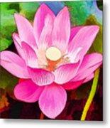 Beautiful Pink Lilies Metal Print