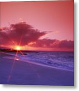 Beautiful Pink Sunset Metal Print