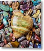 Beautiful Polished Colorful Stones Metal Print