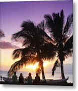 Beautiful Purple Sunset Metal Print