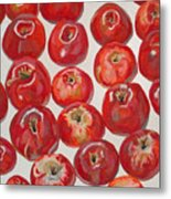 Beautiful Red Apples Metal Print