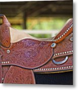 Beautiful Saddle Metal Print